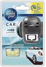 "Fragrances, Perfumes, Cosmetics Car Freshener Set ""Water"" - Ambi Pur (freshener/1szt + refill/7ml)"