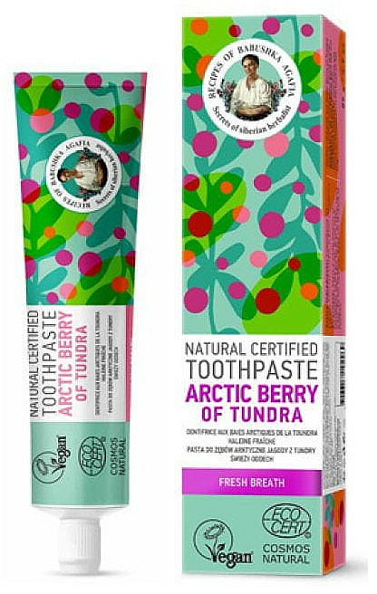 Arctic Berry Of Tundra Natural Toothpaste - Retsepty Babushki Agafi