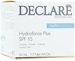 Fragrances, Perfumes, Cosmetics Ultra-Moisturizing Day Cream SPF 15 - Declare Hydroforce Plus SPF 15 Cream