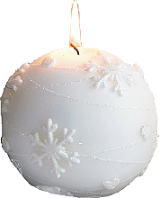 Fragrances, Perfumes, Cosmetics Decorative Candle, white ball, 12 cm - Artman Snowflake Application