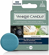 Fragrances, Perfumes, Cosmetics Car Air Freshener - Yankee Candle Clean Cotton Car Powered Fragrance Diffuser Refill (refill)