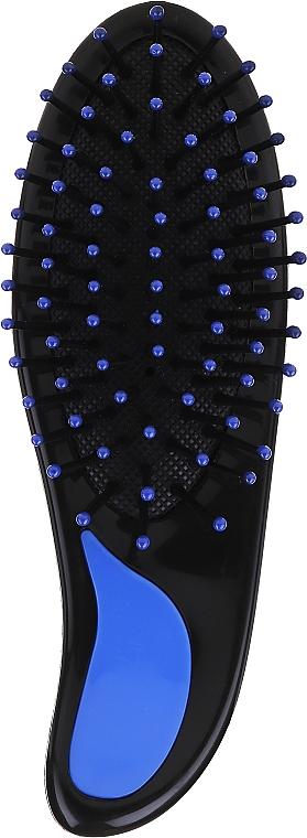 Teardrop Hair Brush with Plastic Pins, 499726, blue - Inter-Vion — photo N1