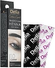 Fragrances, Perfumes, Cosmetics Henna Powder Eyebrow Tint, black - Delia Brow Dye Henna Traditional Black