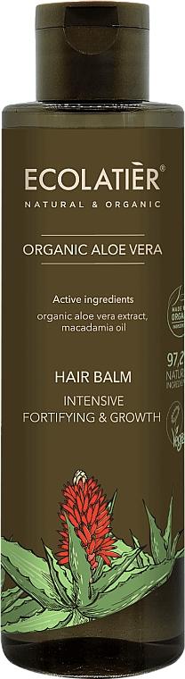"Hair Balm ""Intensive Strengthening and Growth"" - Ecolatier Organic Aloe Vera Hair Balm"
