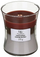Fragrances, Perfumes, Cosmetics Scented Candle in Glass - WoodWick Hourglass Trilogy Candle Forest Retreat