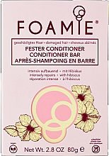 Fragrances, Perfumes, Cosmetics Solid Hair Conditioner - Foamie Hibiskiss Conditioner Bar
