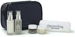 Fragrances, Perfumes, Cosmetics Set - Omorovicza Essentials (tonic/30ml + balm/15 ml + f/cr/15ml + f/cr/15ml + towel + bag)