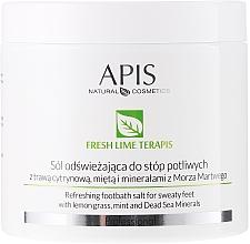 Fragrances, Perfumes, Cosmetics Refreshing Salt Foot Bath - APIS Professional Fresh Lime Terapis Refreshing Footbath Salt