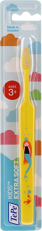 Kids Toothbrush 3+, yellow - TePe Kids Extra Soft — photo N1