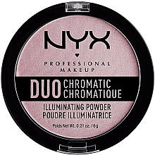 Fragrances, Perfumes, Cosmetics Highlighter - NYX Professional Makeup Duo Chromatic Illuminating Powder