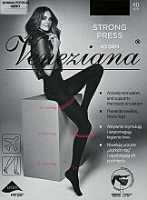 "Fragrances, Perfumes, Cosmetics Women's Tights ""Strong press"", 40 Den, nero - Veneziana"