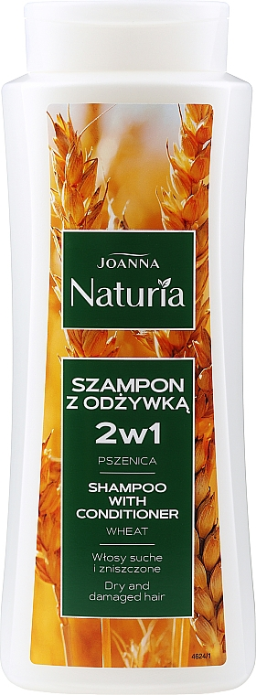 Wheat Shampoo-Conditioner for Dry & Colored Hair - Joanna Naturia Shampoo With Conditioner With Wheat