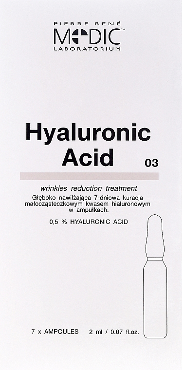 "Face Ampoule ""Hyaluronic Acid"" - Pierre Rene Medic Laboratorium Vital Serum"