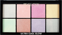 Fragrances, Perfumes, Cosmetics Face Highlighter Palette - Makeup Revolution Ultra Cool Glow