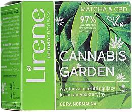 Fragrances, Perfumes, Cosmetics Smoothing Antibacterial Day Cream - Lirene Cannabis Garden Matcha&Cbd Cream