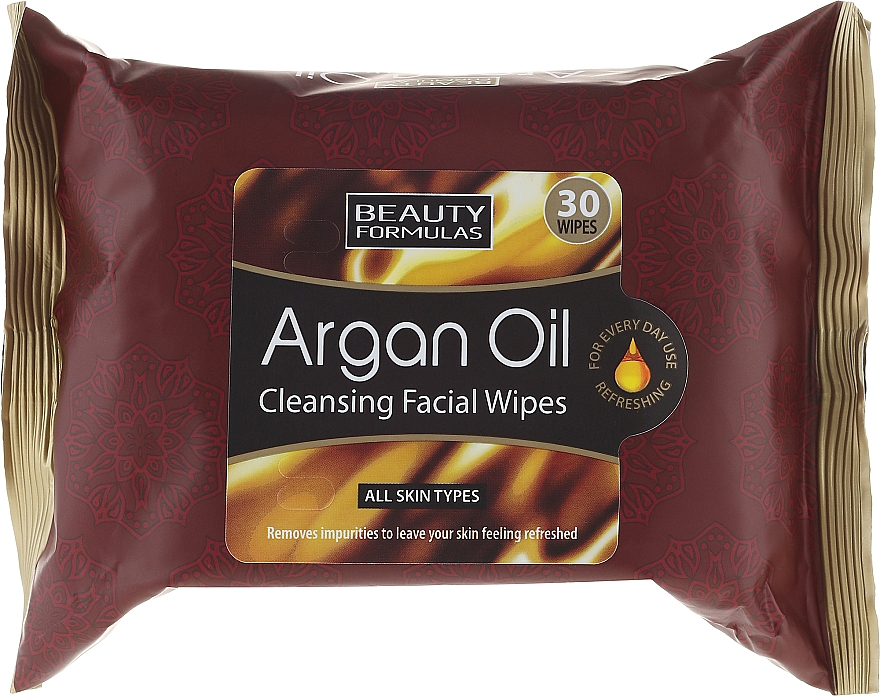 Cleansing Facial Wipes - Beauty Formulas Argan Oil Cleansing Facial Wipes