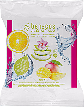 Fragrances, Perfumes, Cosmetics Cleansing Wet Wipes - Benecos Natural Care Happy Cleansing Wipes