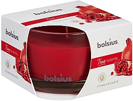 """Fragrances, Perfumes, Cosmetics Scented Candle in Glass """"Pomegranate"""", 63/90 mm - Bolsius True Scents Candle"""