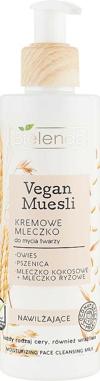 Moisturizing Face Wash Milk - Bielenda Vegan Muesli Moisturizing Face Cleaning Milk