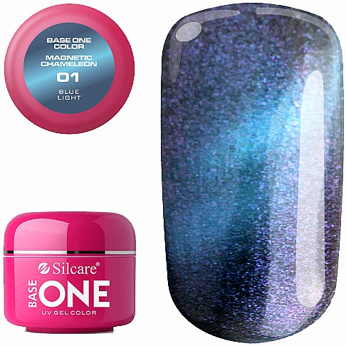 Nail Gel Polish - Silcare Base One Magnetic Chameleon UV Gel Color