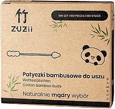 Fragrances, Perfumes, Cosmetics Bamboo Cotton Buds with Different Tips - Zuzii Bamboo Cotton Buds