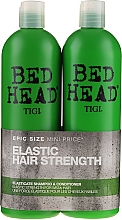 Fragrances, Perfumes, Cosmetics Set - Tigi Bed Head Elastic Hair Strenght (sh/750ml + cond/750ml)