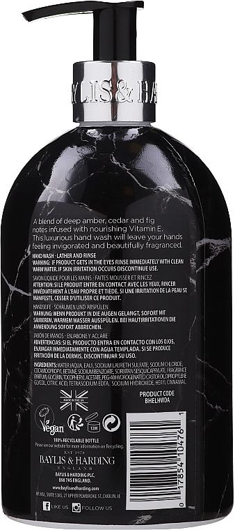 Liquid Hand Soap - Baylis & Harding Elements Dark Amber & Fig Luxury Hand Wash — photo N2