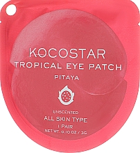 "Fragrances, Perfumes, Cosmetics Hydrogel Eye Patches ""Tropical Fruit. Pitaya"" - Kocostar Tropical Eye Patch Pitaya"