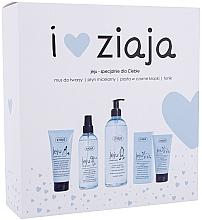 Fragrances, Perfumes, Cosmetics Set - Ziaja I Love Ziaja (f/paste/75ml + f/tonic/200ml + mincellar/water/390ml + f/muss/50ml)