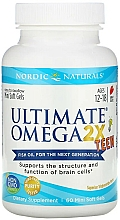 """Fragrances, Perfumes, Cosmetics Teen Dietary Supplement with Strawberry Taste """"Omega 2X"""" - Nordic Naturals Ultimate Omega 2X Teen"""