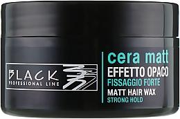 Fragrances, Perfumes, Cosmetics Wax with Matte Effect - Black Professional Line Cera Matt Effetto Opaco