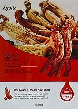Fragrances, Perfumes, Cosmetics Ginseng Essence Sheet Mask - Esfolio Red Ginseng Essence Mask Sheet