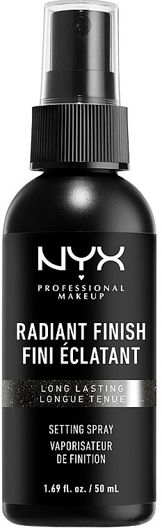 Makeup Setting Spray with Radiance Effect - NYX Professional Makeup Radiant Finish Setting Spray Long Lasting