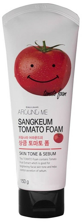 Tomato Extract Cleansing Foam - Welcos Around Me Sangkeum Tomato Foam