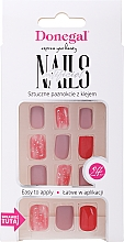 False Nails Set with Glue, 3072 - Donegal Express Your Beauty — photo N1