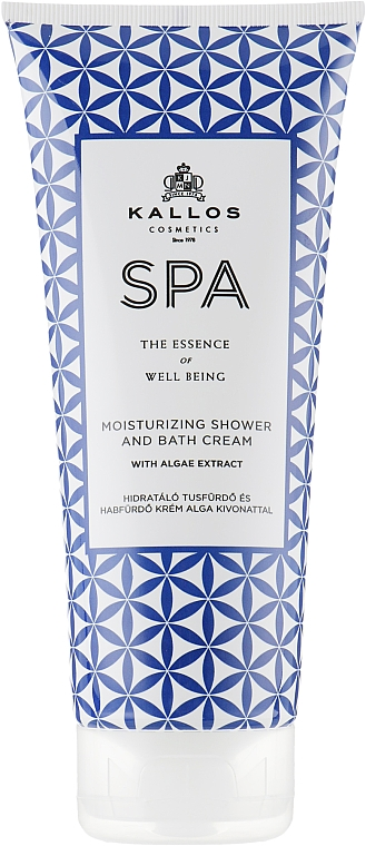 Shower Cream - Kallos Cosmetics SPA Moisturizing Shower and Bath Cream With Algae Extract