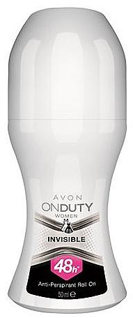 "Deodorant-Antiperspirant ""Stain Protection"" - Avon On Duty Invisible 48H Anti-persrirant"