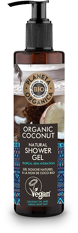 Moisturizing Shower Gel - Planeta Organica Organic Coconut Natural Shower Gel