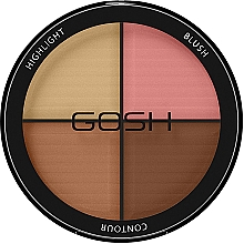 Fragrances, Perfumes, Cosmetics Contour Palette - Gosh Contour Strobe Kit