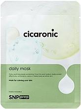 Fragrances, Perfumes, Cosmetics Soothing Sheet Mask - SNP Prep Cicaronic Daily Mask