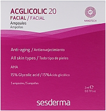 Fragrances, Perfumes, Cosmetics Glicolic Acid Complex Action Ampoule - SesDerma Laboratories Acglicolic 20 Ampoules