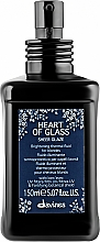 Fragrances, Perfumes, Cosmetics Heat Protection Shine Blonde Fluid - Davines Heart Of Glass Sheer Glaze