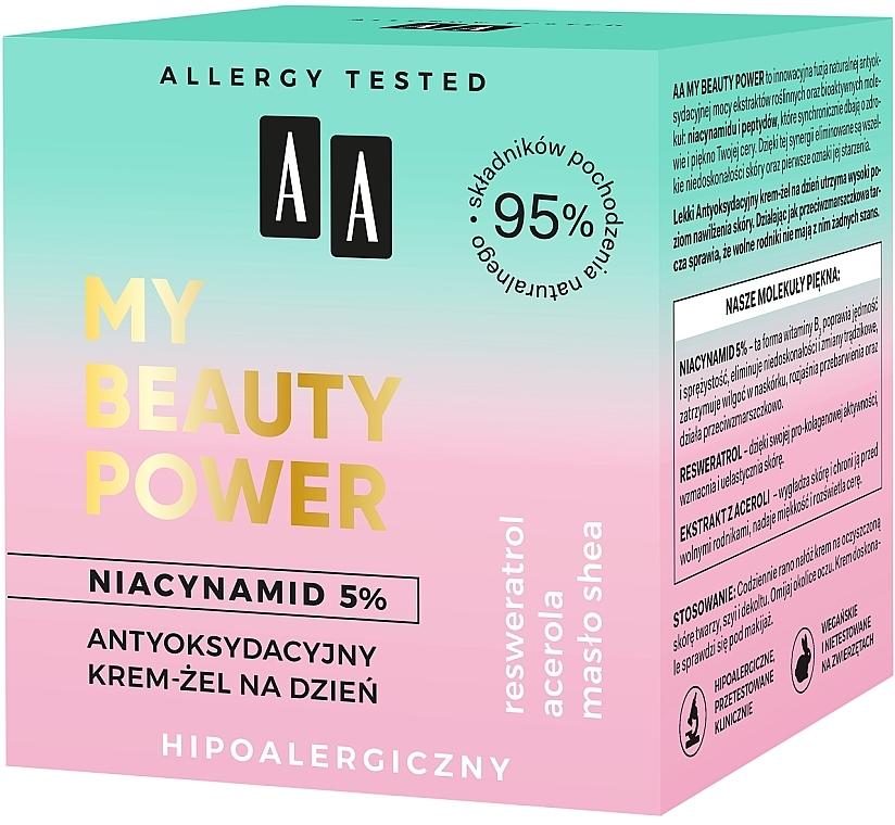 Antioxidant Day Face Cream-Gel - AA My Beauty Power Niacynamid 5% Antioxidant Day Cream-Gel — photo N4