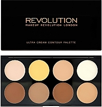 Fragrances, Perfumes, Cosmetics Face Corrector - Makeup Revolution Ultra Cream Contour Palette