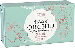 Fragrances, Perfumes, Cosmetics Orchid Body Soap - Scottish Fine Soap Gilded Orchid Luxury Wrapped Soap