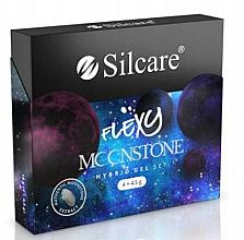 Fragrances, Perfumes, Cosmetics Set - Silcare Flexy Moonstone Hybrid Gel Set (nail/polish/4x4.5g)