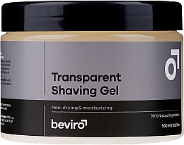 Fragrances, Perfumes, Cosmetics Transparent Shaving Gel - Beviro Transparent Shaving Gel