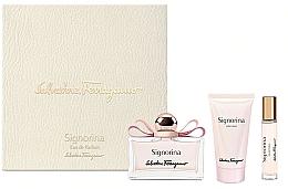 Fragrances, Perfumes, Cosmetics Salvatore Ferragamo Signorina - Set (edp/100ml +edp/10ml+ b/lot/50ml)