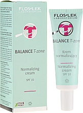 Fragrances, Perfumes, Cosmetics Normalizing Day Cream for Face - FlosLek Balance T-Zone Normalizing Day Cream SPF 10