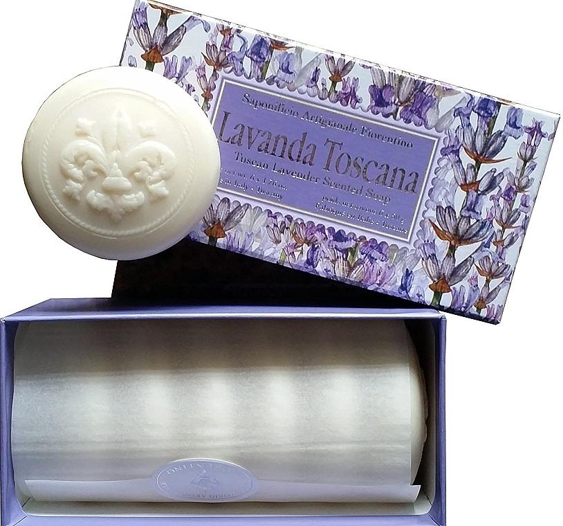 """Toilet Soap Set """"Tuscan Lavender"""" - Saponificio Artigianale Fiorentino Lavender Toscana (Soap/6x50g)"""
